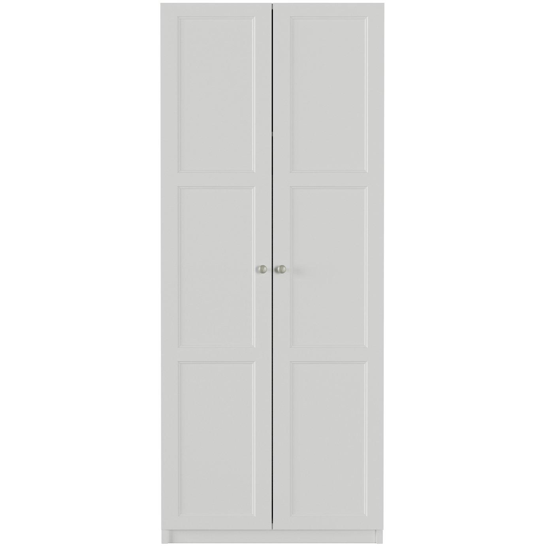 One Call Bexley 2 Door Wardrobe - White