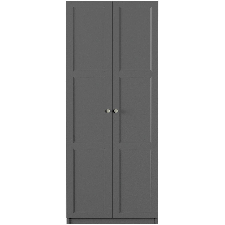 One Call Bexley 2 Door Wardrobe - Dark Grey