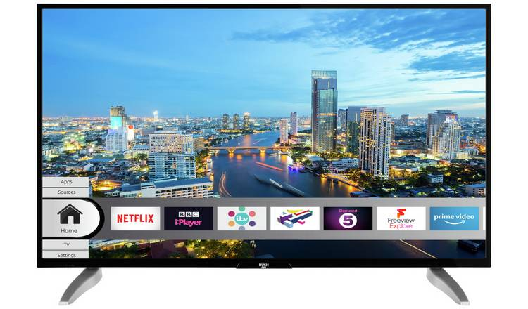 Bush 43 Inch Smart 4K UHD HDR LED Freeview TV