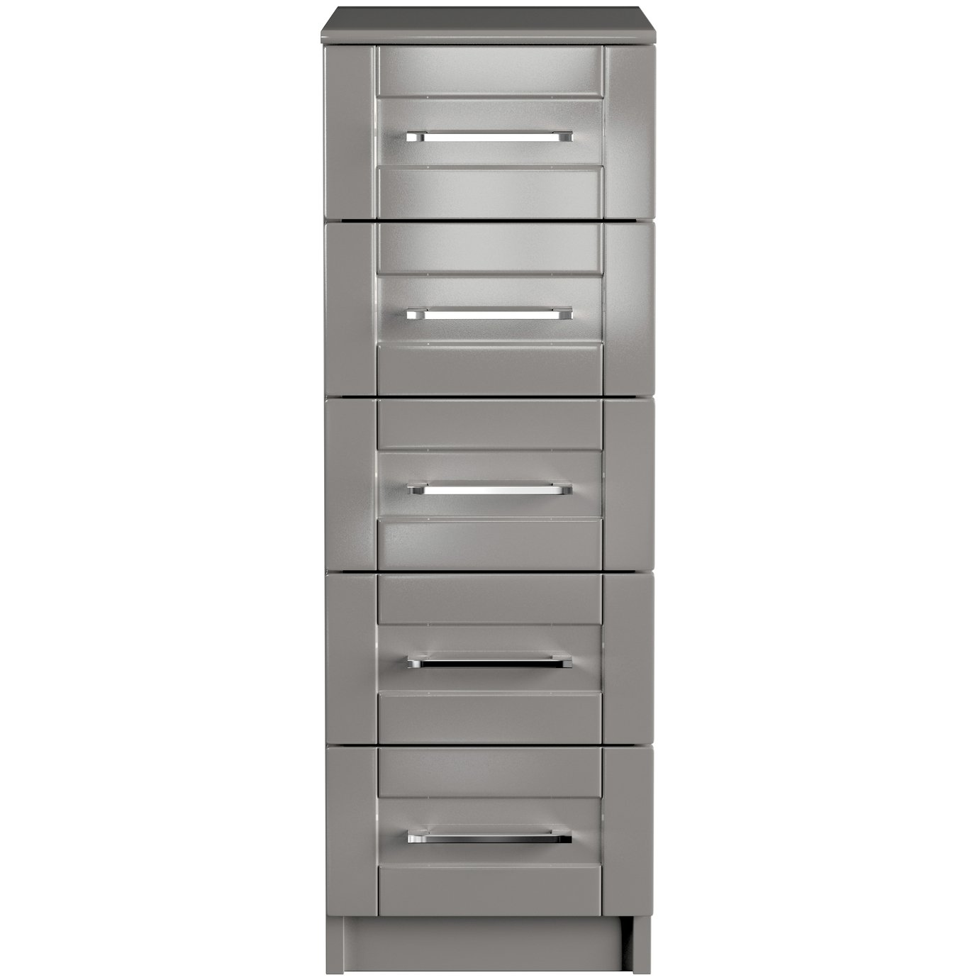 One Call Colby Gloss Tallboy - Grey