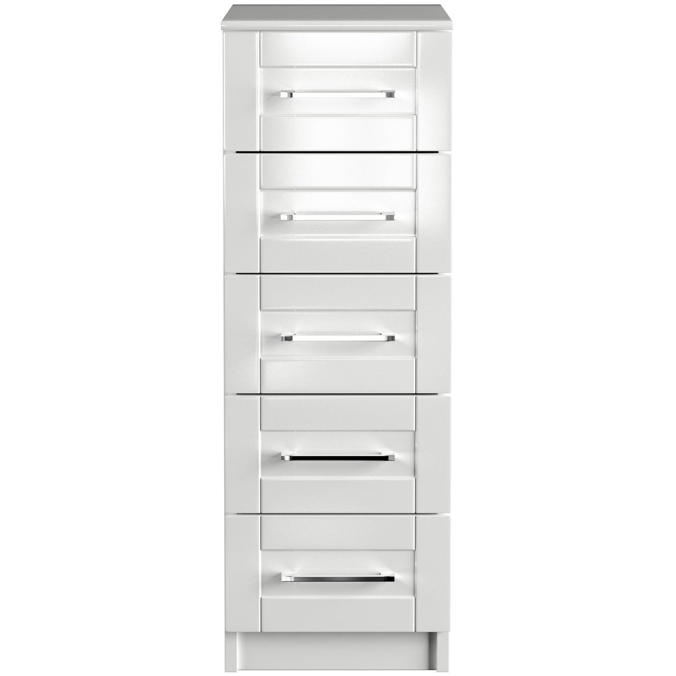 One Call Colby Gloss Tallboy - White