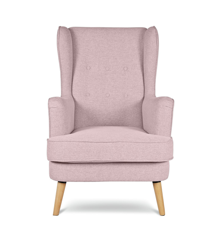 Argos Home Callie Fabric Wingback Chair   Blush Pink883/9895