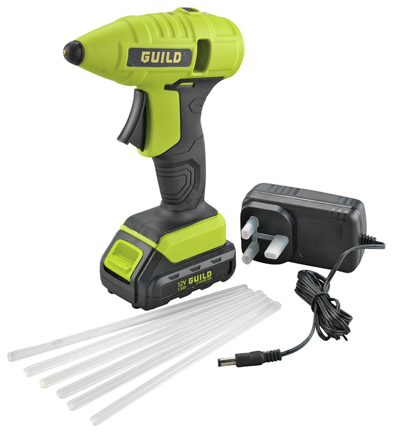 Guild Cordless Glue Gun with 24 Glue Sticks