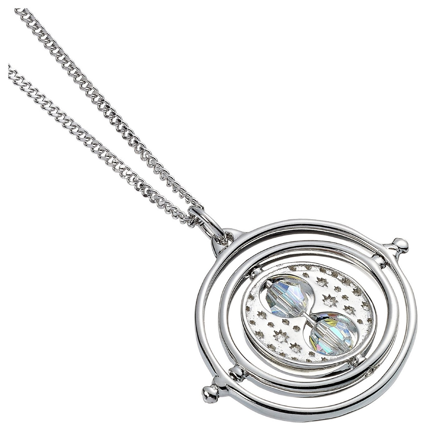 Harry Potter Sterling Silver Time Turner Swarovski Pendant