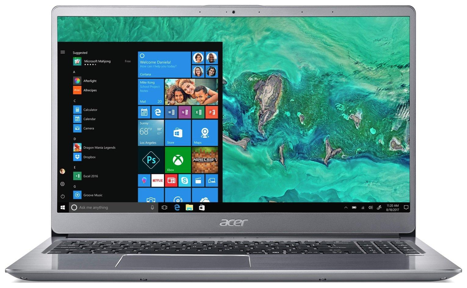 Acer Swift 3 15.6 Inch i3 4GB 256GB FHD Laptop - Silver