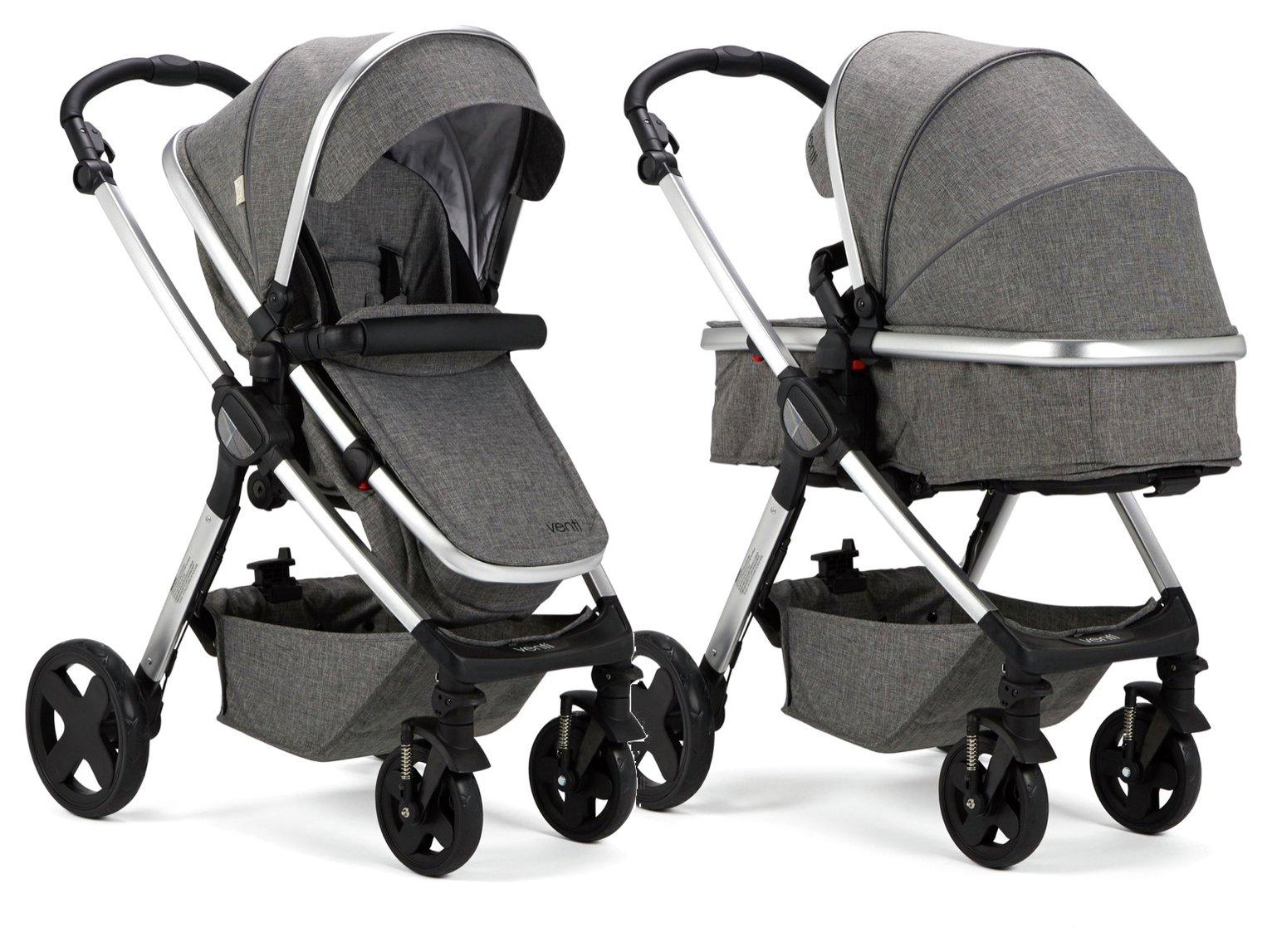 Baby Elegance Venti 2-in-1 Pushchair by Rosie - Grey