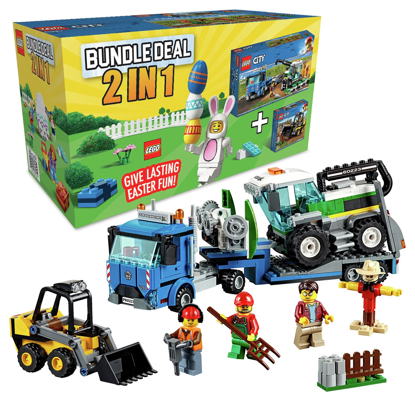 LEGO City Bundle, Harvester Transport and Loader Toy Truck
