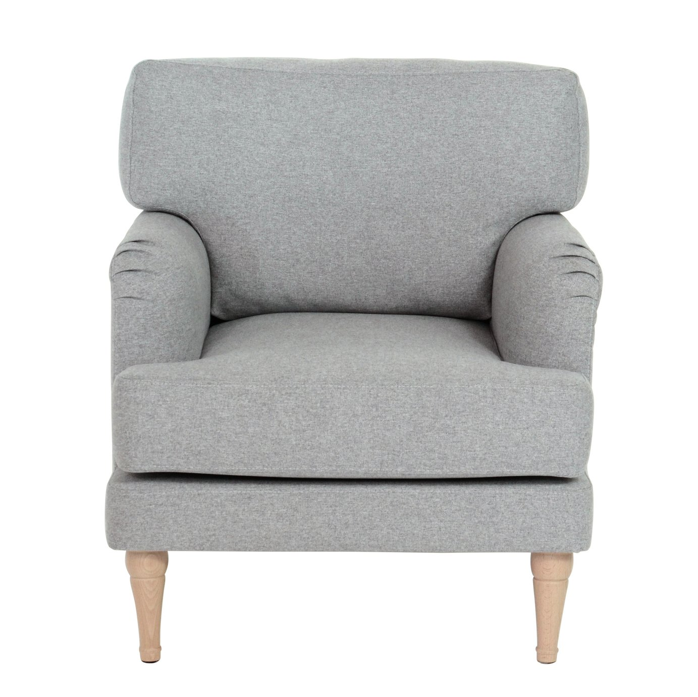 Argos Home Dune Fabric Armchair - Light Grey