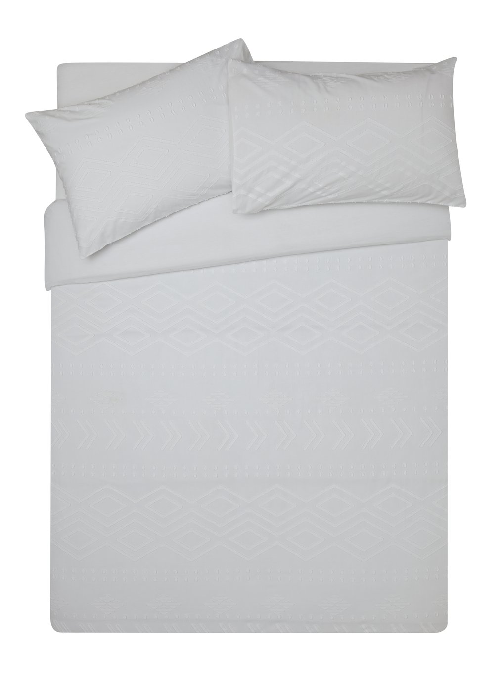 Argos Home Diamond Jacquard Bedding Set - Superking