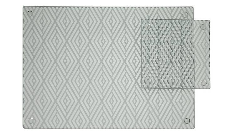 ce07dd5b3182 Buy Argos Home Set of 4 Luxe Glass Placemats and Coasters