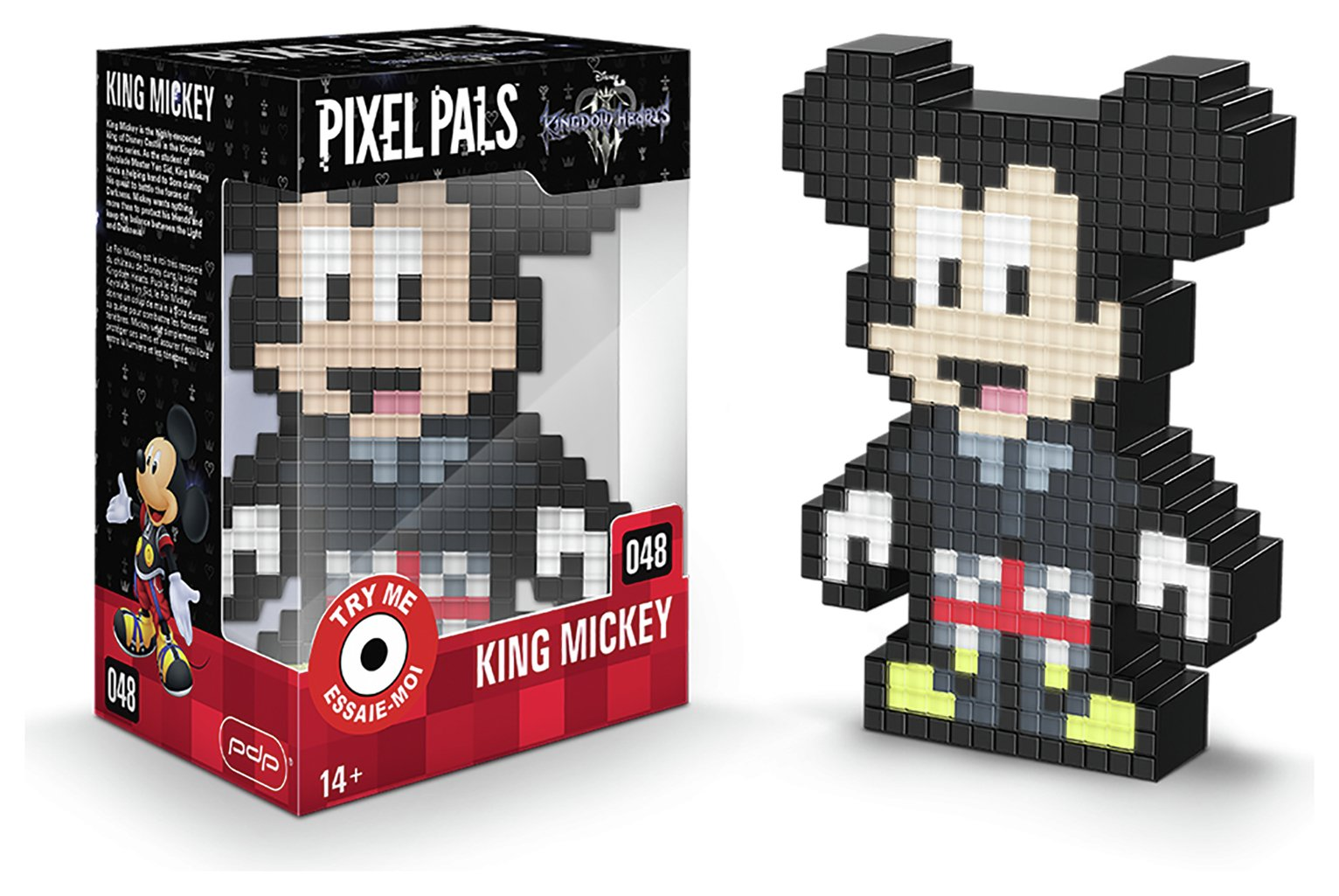 Pixel Pals: Kingdom Hearts Light-Up Figure - Mickey Mouse