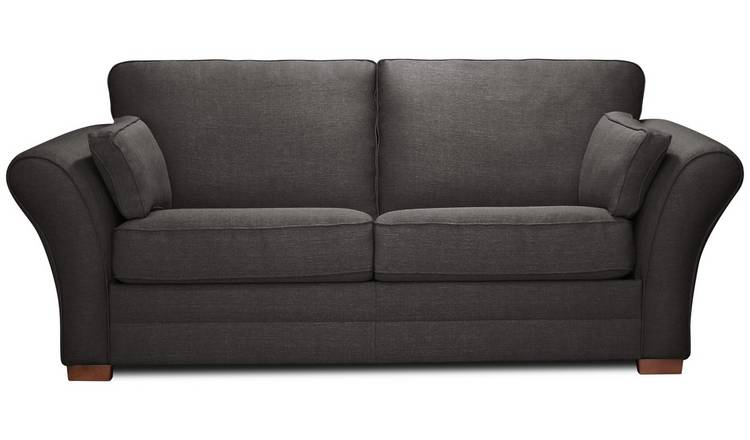 Argos Home Thornton 3 Seater Fabric Sofa Bed - Charcoal