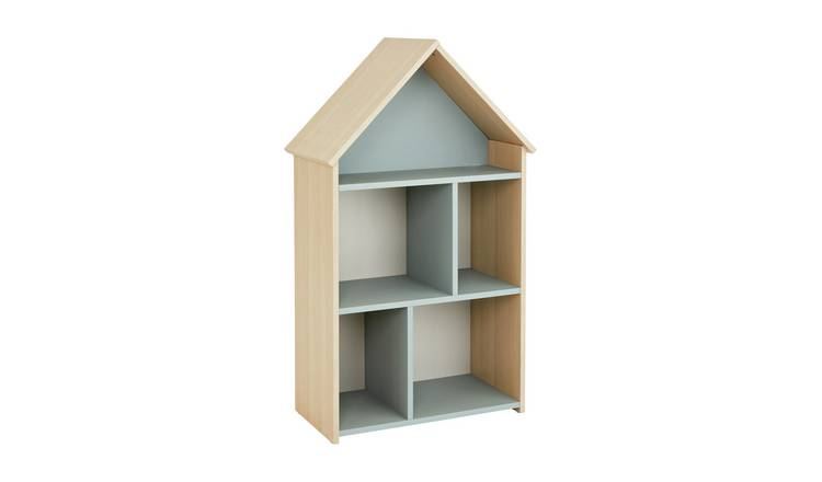 Argos Home Camden Blue & Acacia House Bookcase