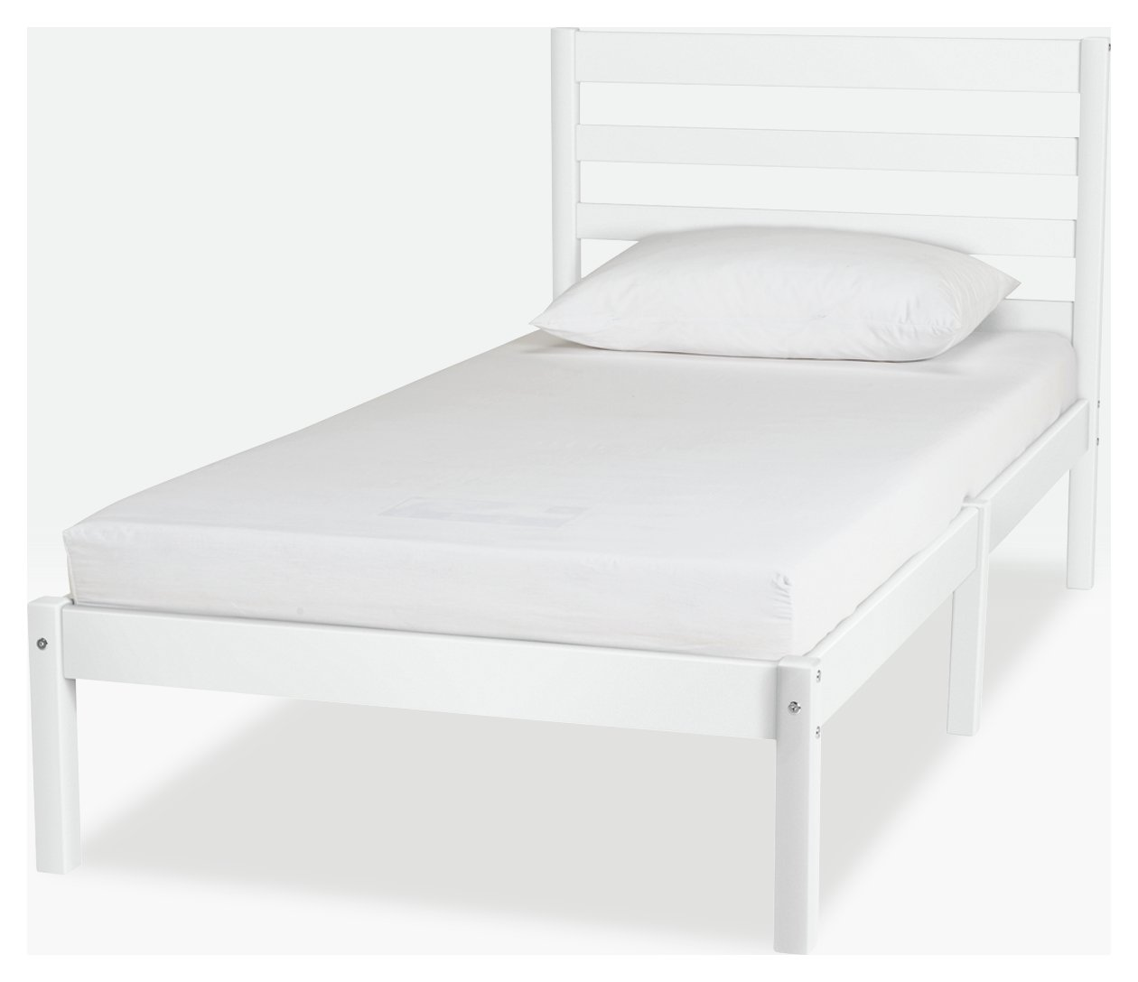 Argos Home Kaycie White Bed & Kids Mattress