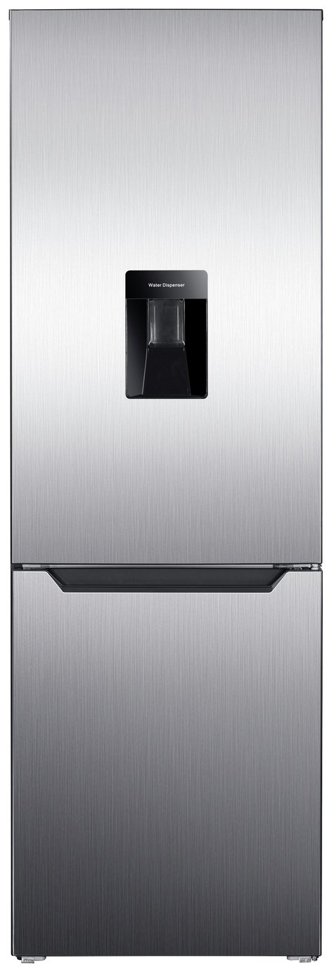 Bush 60185FFWTD Fridge Freezer - Silver Inox Best Price, Cheapest Prices