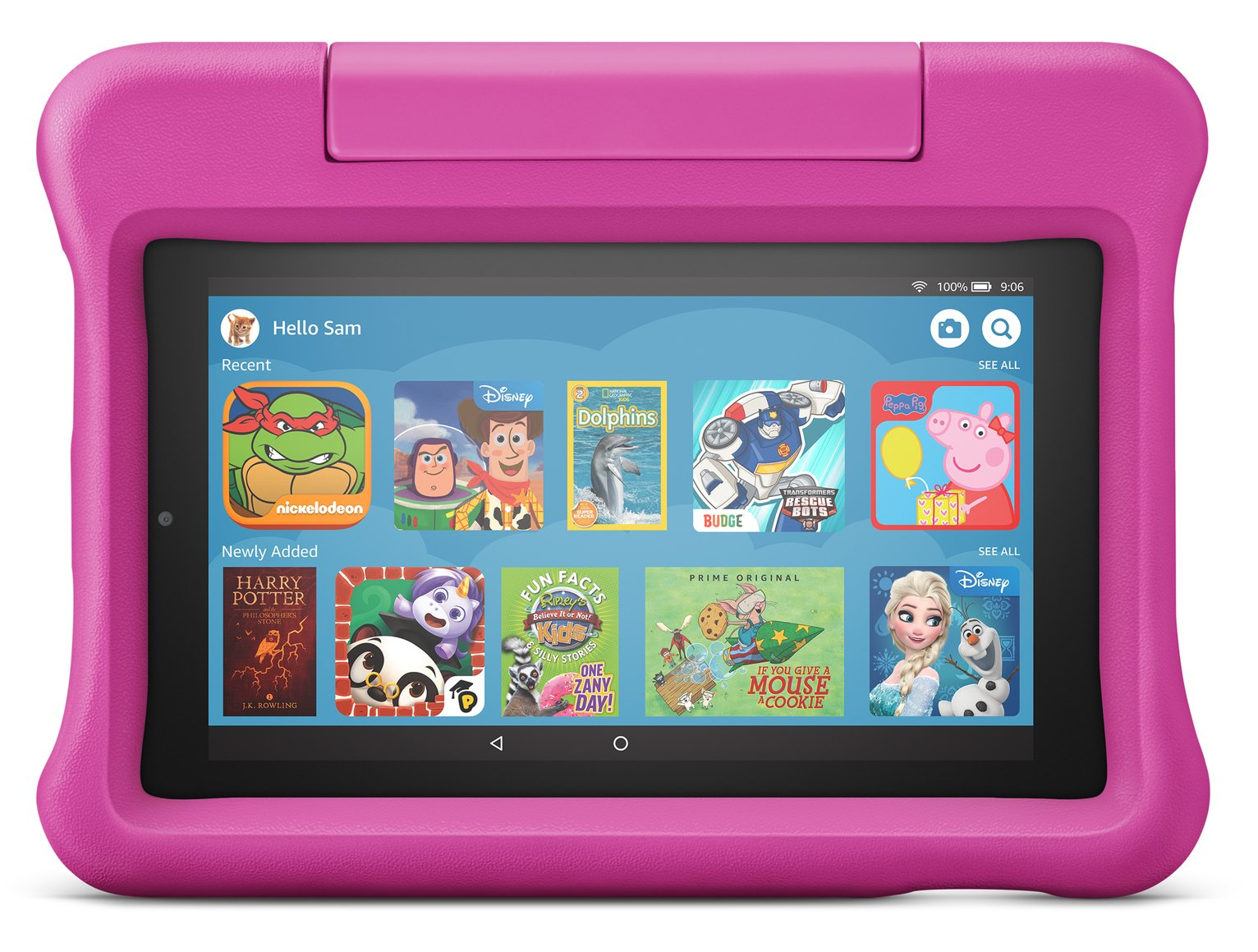 Amazon Fire 7 Kids 7in 16GB Tablet & Kid-Proof Case - Pink