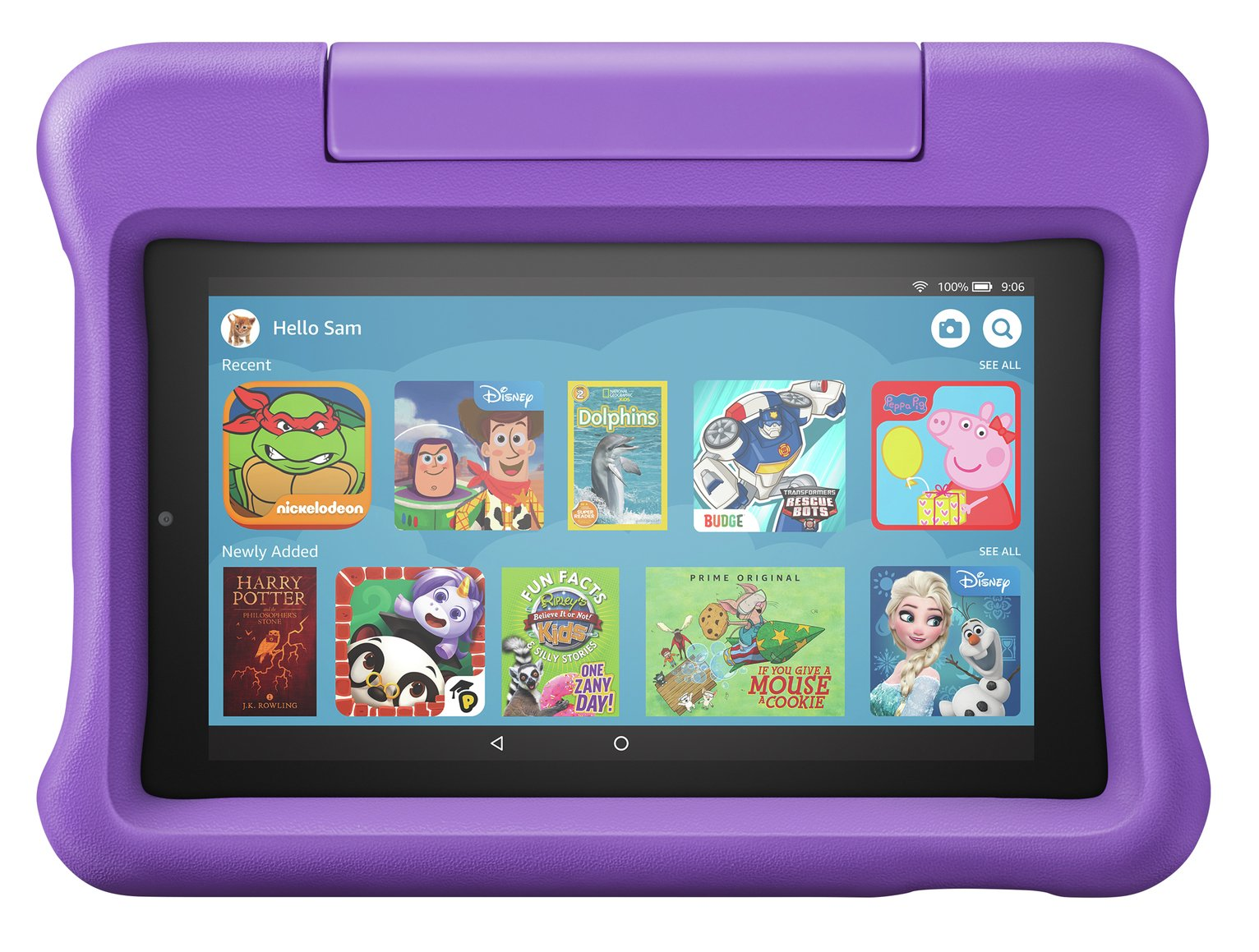 Amazon Fire 7 Kids Edition 7 Inch 16GB Tablet - Purple