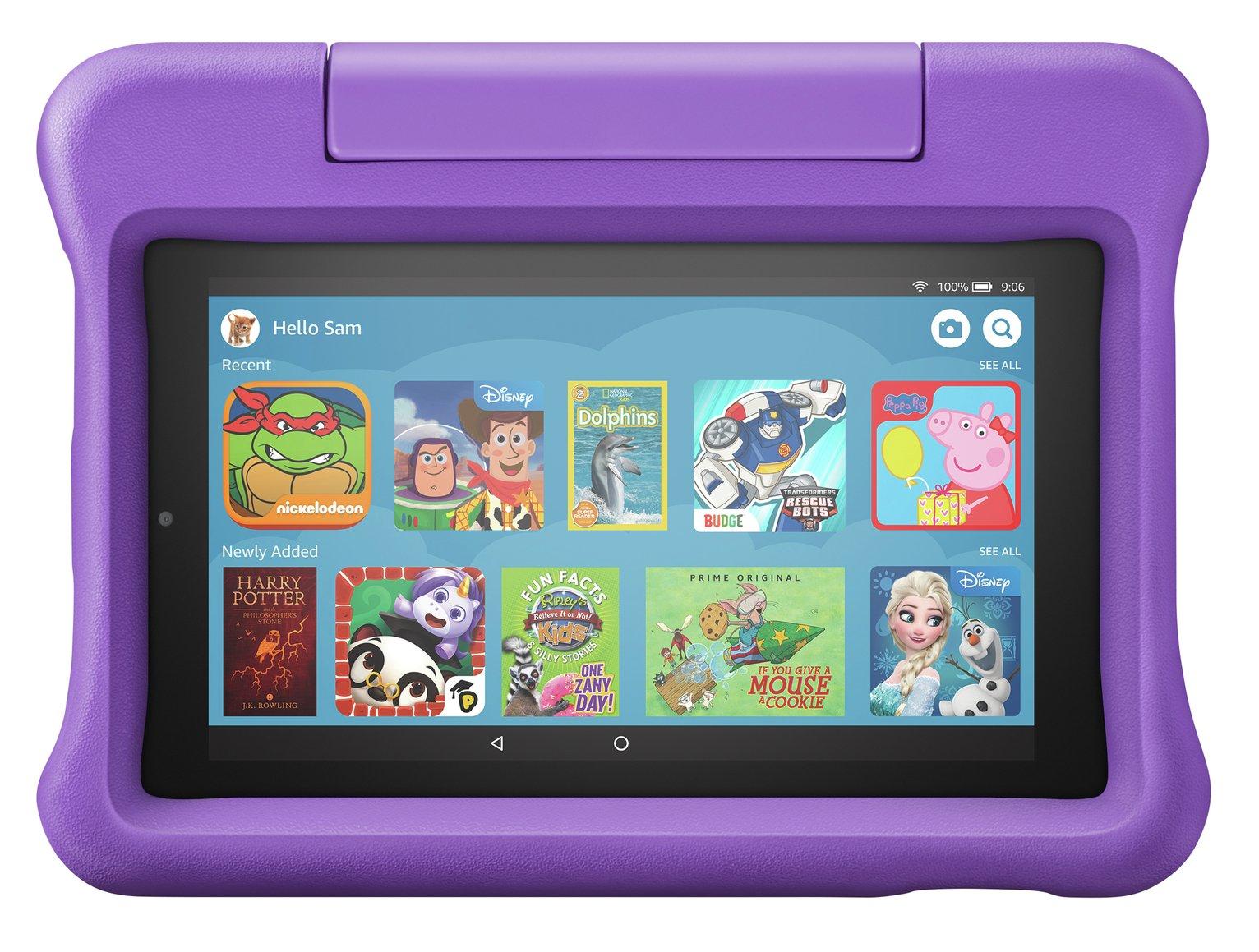 Amazon Fire 7 Kids 7in 16GB Tablet & Kid-Proof Case - Purple