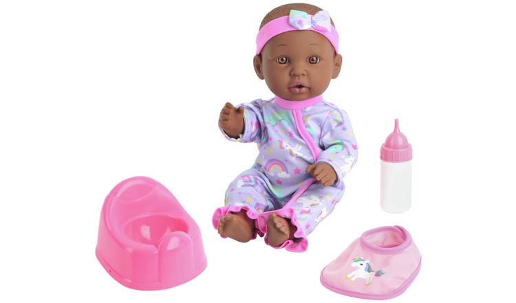 Buy Chad Valley Babies to Love Drink & Wet Baby Dark Hair | Dolls | Argos