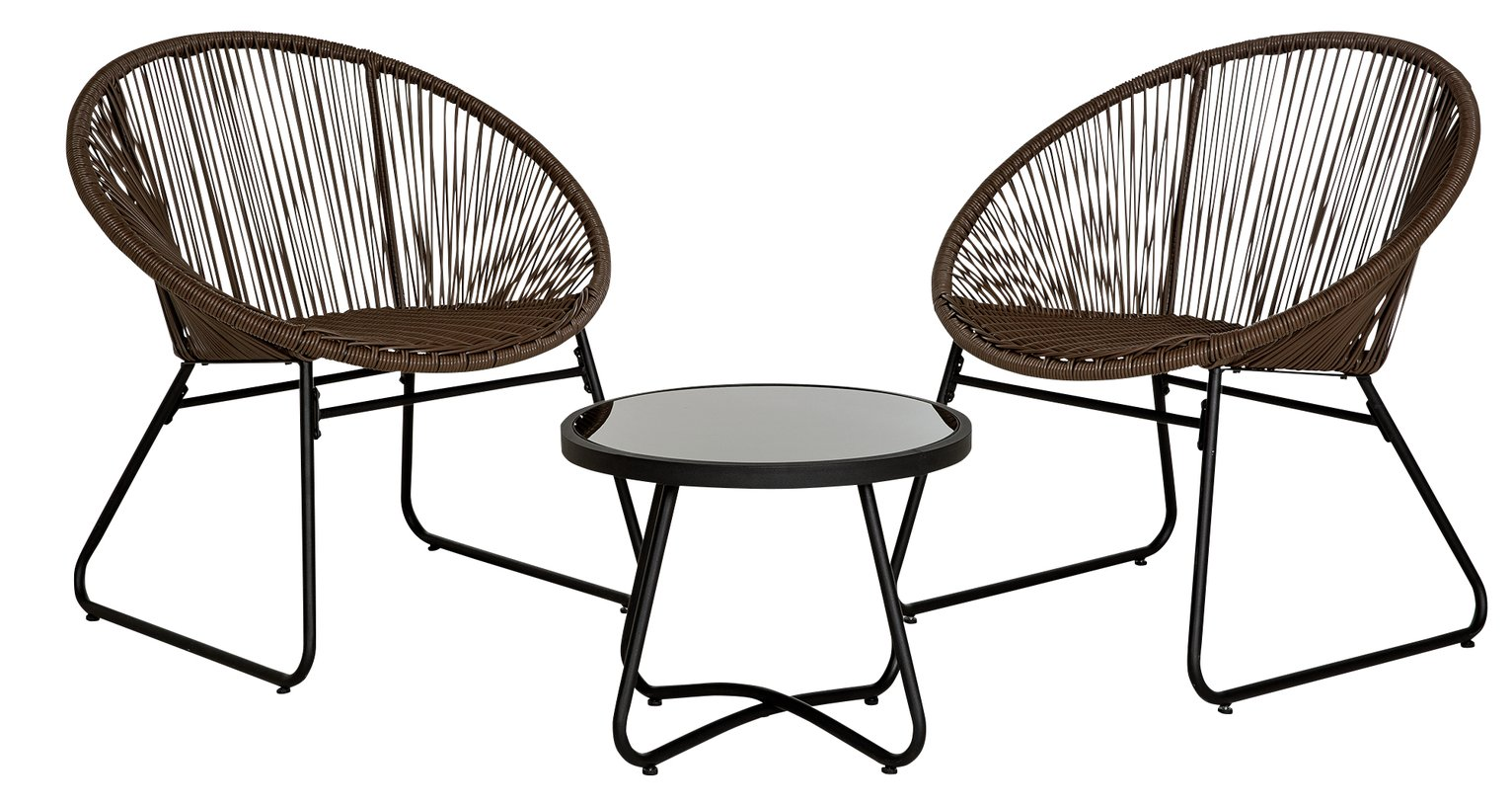 Argos Home 2 Seater Rattan String Bistro Set - Brown