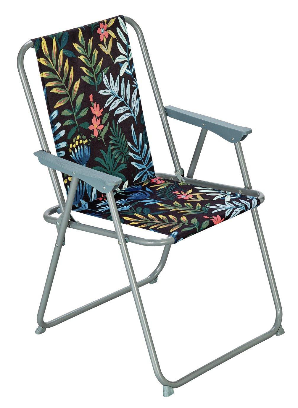 Argos Home Metal Folding Picnic Chair - Rainforest