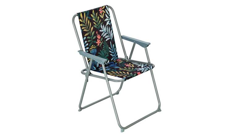 Argos Home Metal Folding Picnic Chair - Rainforest 0