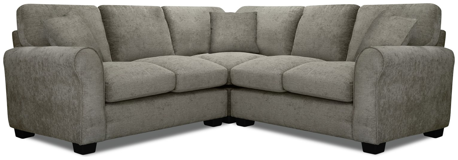Argos Home Tammy Corner Fabric Sofa - Mink