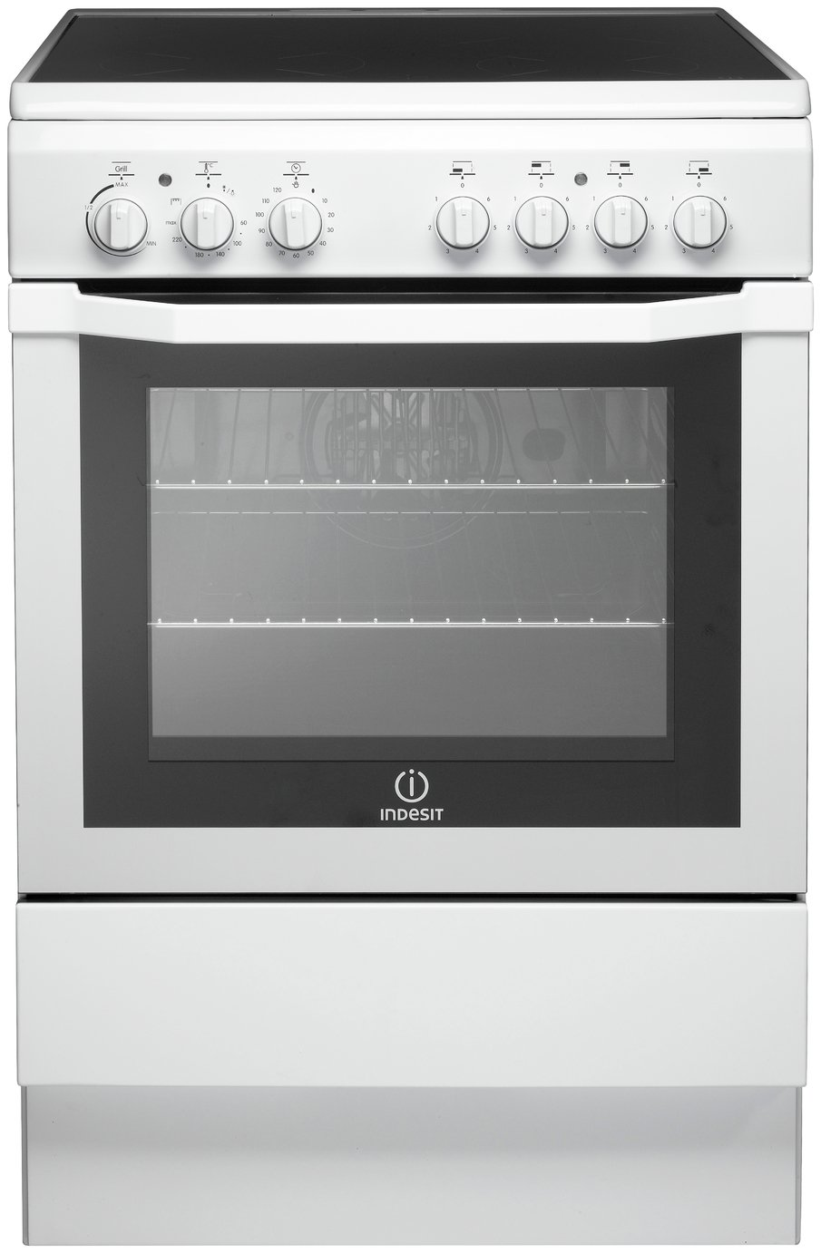 Indesit I6VV2AW 60cm Single Oven Electric Cooker - White