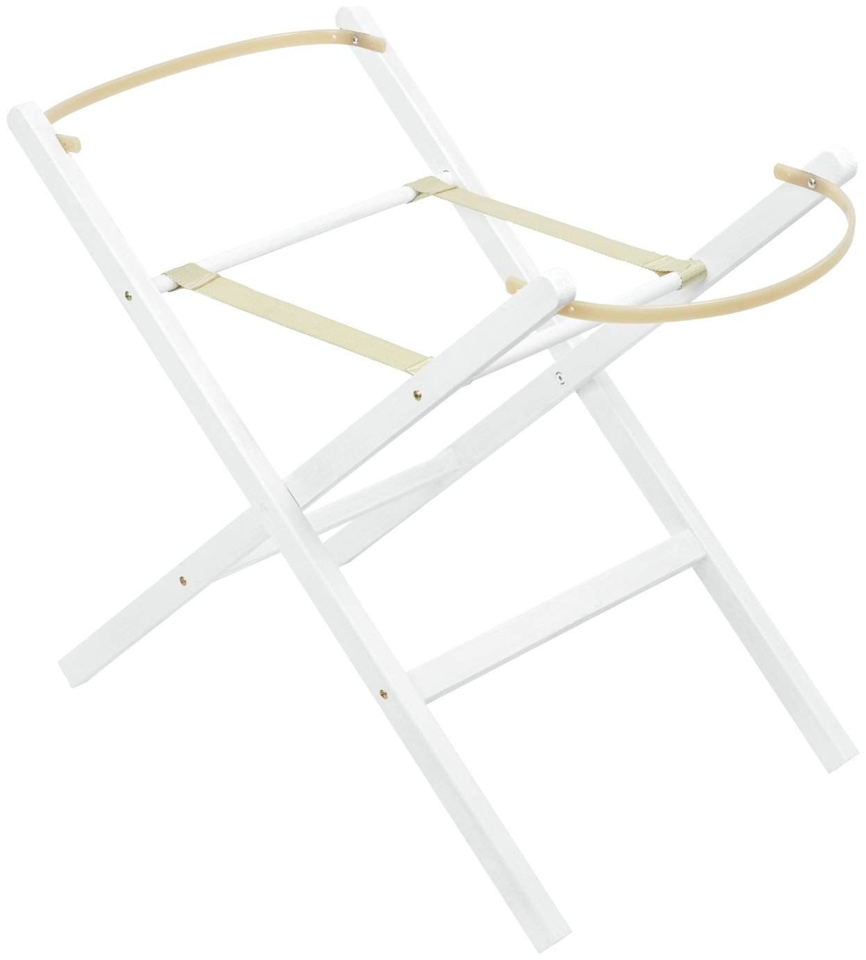 Cuggl White Folding Moses Basket