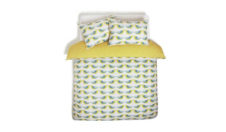 Habitat Kissing Birds Reversible Bedding Set - Kingsize