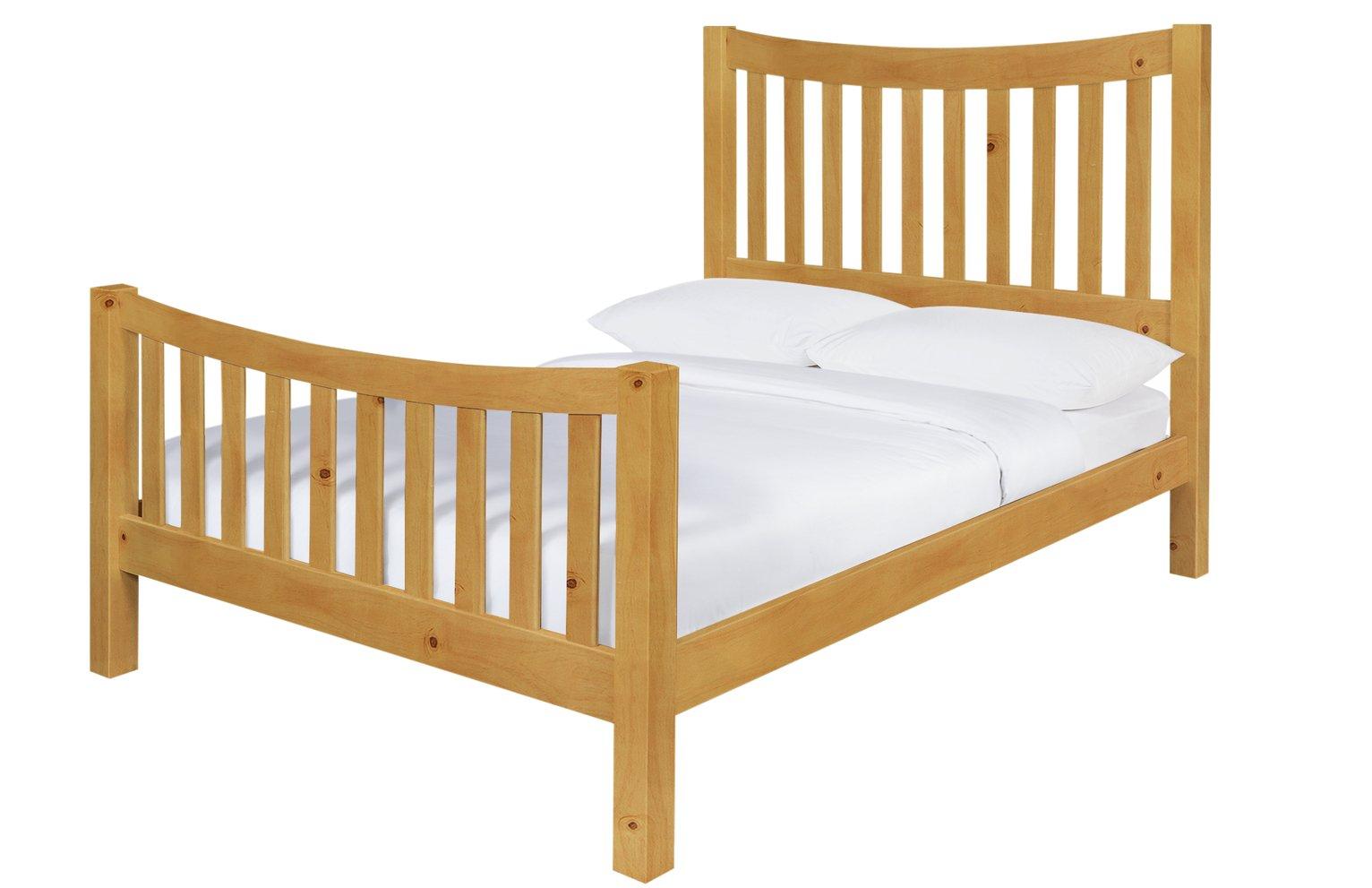 Argos Home Rowan Oak Stain Double Bed Frame