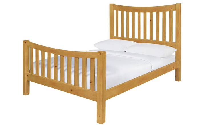 Argos Home Rowan Double Bed Frame - Oak Stain