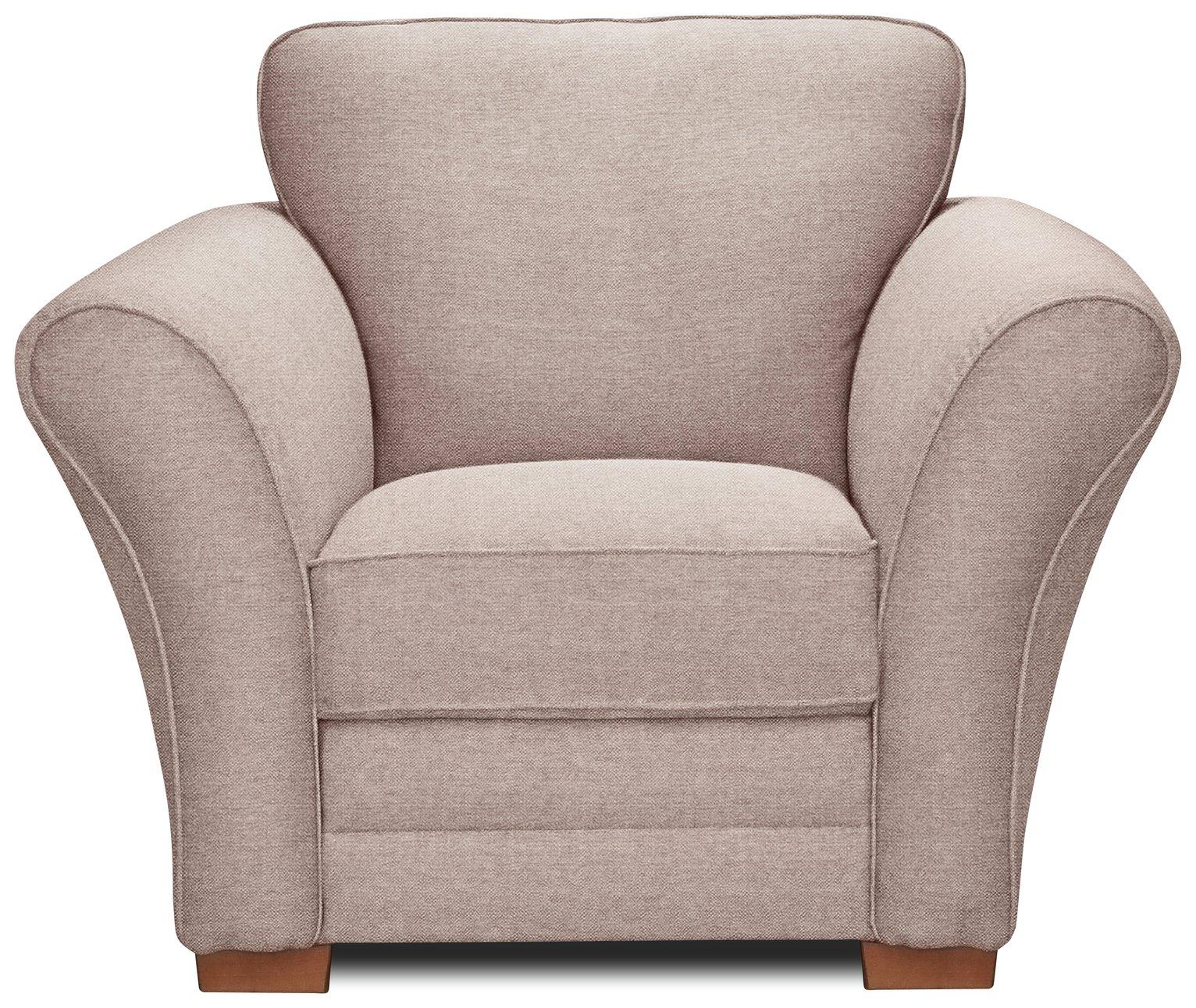 Argos Home New Thornton Fabric Armchair - Old Rose