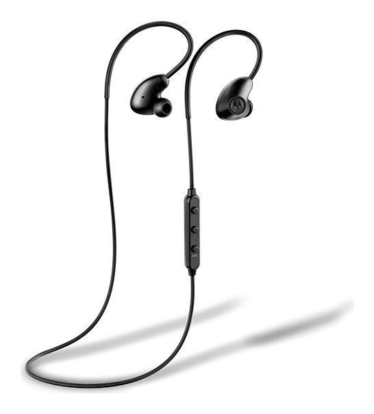 Motorola VerveLoop 500 Wireless In-Ear Headphones - Black