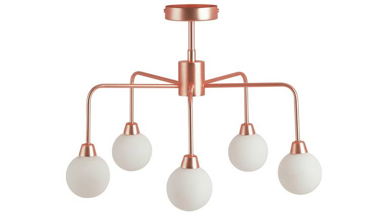 Habitat Boyd Flush Ceiling Light - Copper