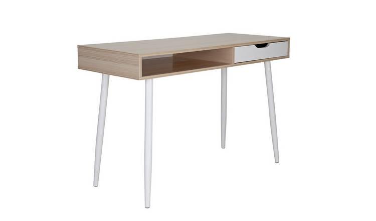 Oak Effect. Argos Home Large Trestle Table Desk
