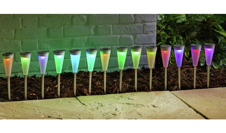 Habitat Set of 18 Colour Change Solar Lights