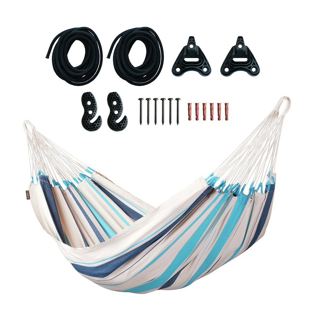 La Siesta Caribena Single Hammock - Aqua Blue