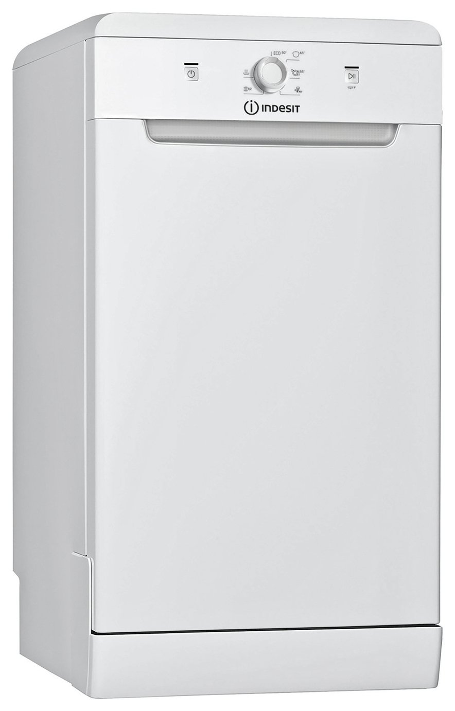 Indesit DSFE1B10 Slimline Dishwasher - White
