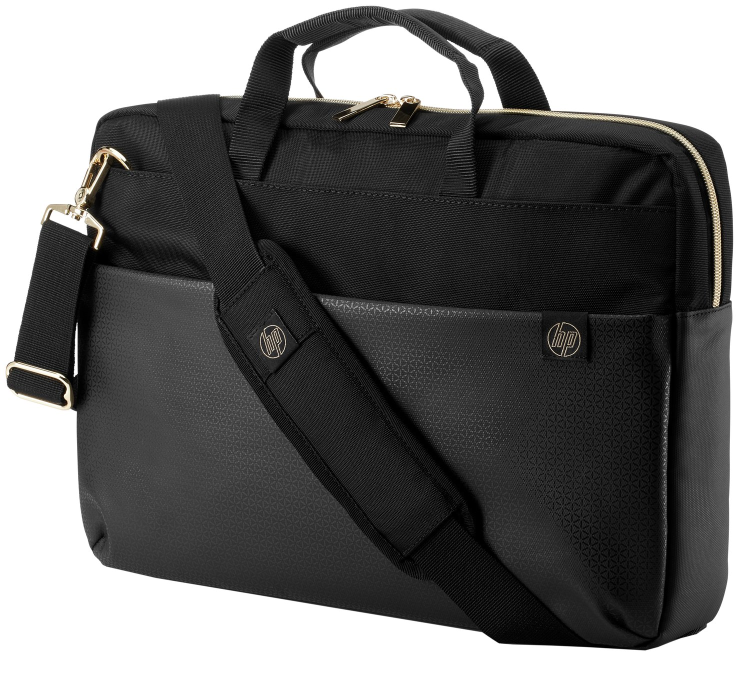 HP Duotone 15.6 Inch Laptop Briefcase - Gold and Black