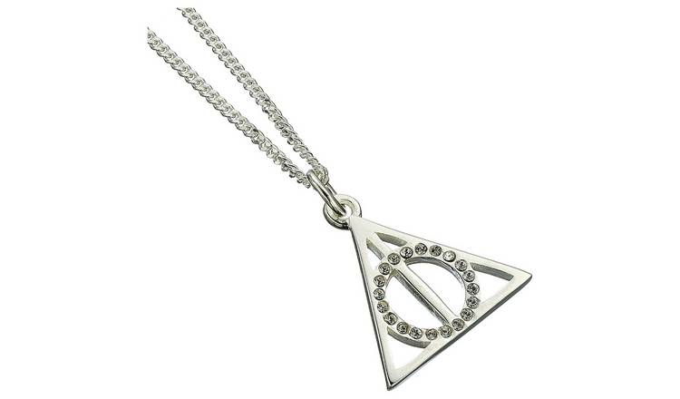 62b289caf57b7 Buy Harry Potter Sterling Silver Deathly Hallows Pendant | Womens necklaces  | Argos