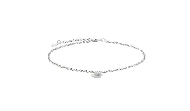 State of Mine Sterling Silver Crystal Star Anklet