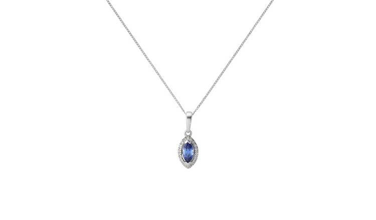 dd0ea4f482ed3 Buy Revere 9ct White Gold Diamond Pendant 18inch Necklace | Womens  necklaces | Argos