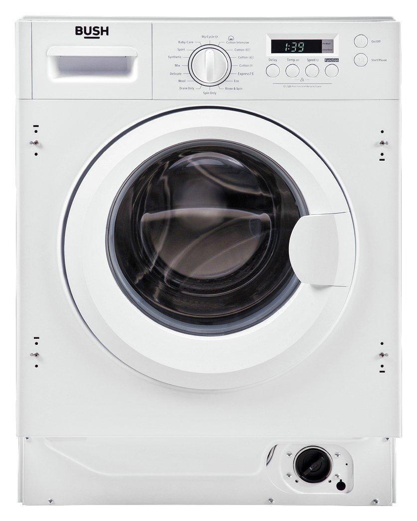 Bush WMNSINT812W 8KG 1200 Spin Washing Machine - White
