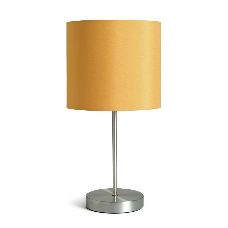 Argos Home Satin Stick Table Lamp - Mustard