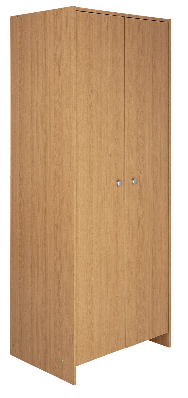 Argos Home Seville 2 Door Wardrobe - Oak Effect