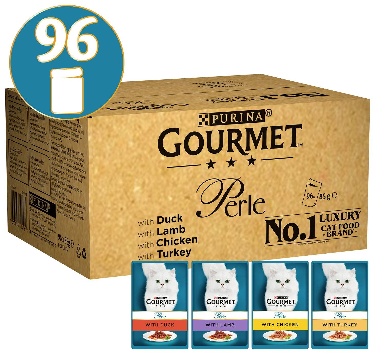 Gourmet Perle Cat Food Chef`s Collection 96x85g