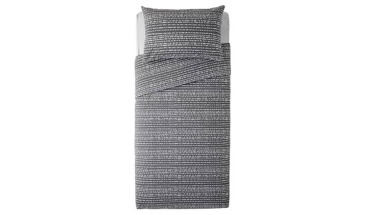 Argos Home Grey Dash Print Bedding Set - Single