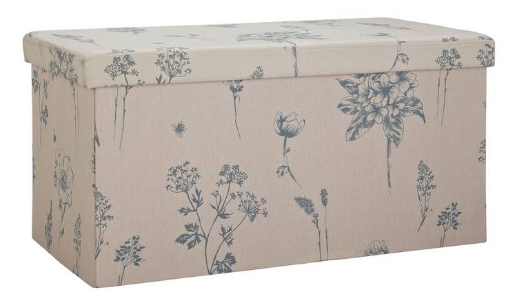 Argos Home Large Fabric Ottoman - Floral
