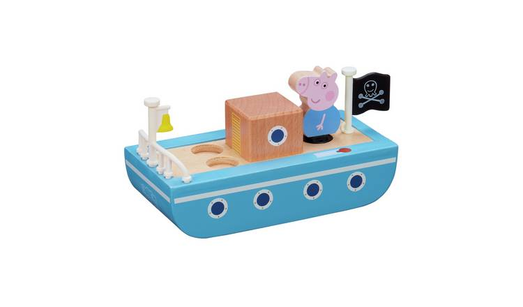 Peppa Pig Peppa's Wood Playboat and Figure Playset
